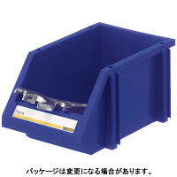 アスクル 「現場のチカラ」 組み合わせ収納ボックスブルーM 1セット(8個入)