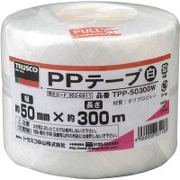 TRUSCO PPテープ 幅50mmX長さ300m 白 952-1340