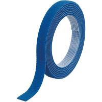 トラスコ中山 TRUSCO マジックバンド結束テープ 両面 幅10mm×長さ1.5m 青 MKT1015B 1巻 361-9877
