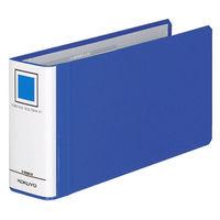 チューブファイル エコツインR B4ヨコ1/3 とじ厚50mm 青 4冊 コクヨ 両開きパイプ式ファイル フ-RT6519B