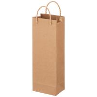 ワインバッグ ベーシックタイプ 丸紐 ベージュ 1箱(200枚入) アスクル
