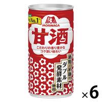 森永製菓 甘酒ドリンク 190g 54969 1セット(6缶)
