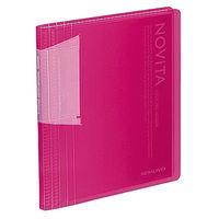 コクヨ ポストカードホルダー<ノビータ> 固定式 A6-S 60ポケット 透明ピンク ハセ-N60P 1冊(直送品)