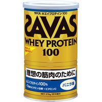 ザバス(SAVAS) ホエイプロテイン100 バニラ味 18食分 378g 明治 プロテイン