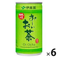 伊藤園 おーいお茶 190g 1セット(6缶入)