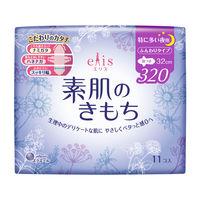 ナプキン 特に多い日の夜用 羽つき 32cm エリス Megami(メガミ) 素肌のきもち 1個(11枚) 大王製紙