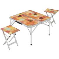 【アウトレット】Coleman ナチュラルモザイクピクニックセット テーブル チェア 1セット コールマン
