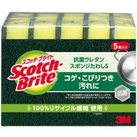 スコッチ・ブライトTM 抗菌ウレタンスポンジ S-21KS 1パック(5個入)