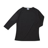 KAZEN スクラブ インナーTシャツ(男女兼用) 半袖 ブラック SS 233-05