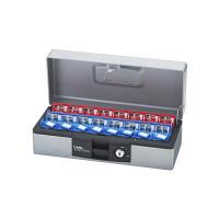 【アウトレット】カール事務器 キーボックス(デスクトップタイプ) 鍵収納数16個 シルバー 1個 CKB-F16-S