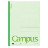 【キャンパスノート】 セミB5 30枚 A罫 緑 10冊