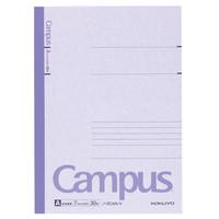 【キャンパスノート】 セミB5 30枚 A罫 紫 10冊