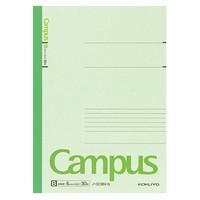 【キャンパスノート】 セミB5 30枚 B罫 緑 10冊