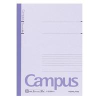 【キャンパスノート】 セミB5 30枚 B罫 紫 10冊