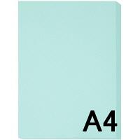 アスクル カラーペーパー A4 ライトブルー 1冊(500枚入)