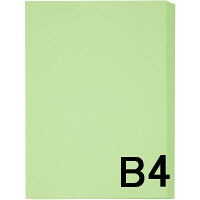 アスクル カラーペーパー B4 グリーン 1冊(500枚入)