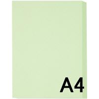 アスクル カラーペーパー A4 ライトグリーン 1冊(500枚入)