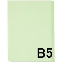 アスクル カラーペーパー B5 ライトグリーン 1冊(500枚入)