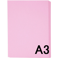 アスクル カラーペーパー A3 ピンク 1冊(500枚入)