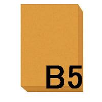アスクル カラーペーパー B5 オレンジ 1冊(500枚入)
