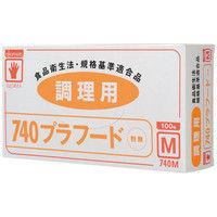 オカモト イージーグローブ 740プラフード 粉無 M 740 1箱(100枚入)
