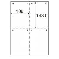 プラス マルチプリンタ用紙 縦4面8穴 TY248MS A4 1冊(500枚入)