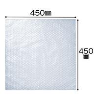 プチプチ袋 フタなし 450mm×450mm 半透明 1袋(100枚入) 川上産業
