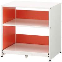 アスクル ビジネスアシスト スライドテーブル付きプリンタラック オレンジ 1台