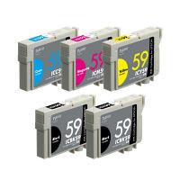 プレジール 互換インク PLE-E595P 1パック(5個入)(エプソン IC5CL59互換)