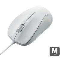 エレコム 有線マウス M-S2ULRSシリーズ ホワイト レーザー式/3ボタン/Mサイズ/RoHS指令準拠 M-S2ULWH/RS