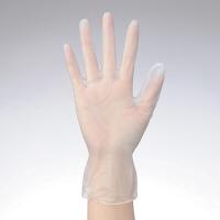 「現場のチカラ」 使いきりプラスチック手袋 L 粉なし ホワイト 1箱(100枚入) アスクル