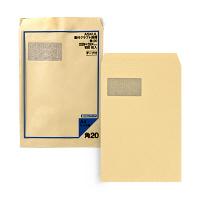 アスクル オリジナル窓付きクラフト封筒 透けないタイプ テープ付 角20 1400枚(100枚×14袋)