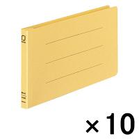 コクヨ 統一伝票用フラットファイル樹脂製とじ具 B4 1/3横 黄 フ-V49Y 1袋(10冊入)