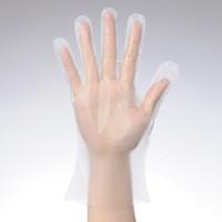 「現場のチカラ」 使いきりポリエチレン手袋 M クリアー 外エンボス 1箱(100枚入) ファーストレイト