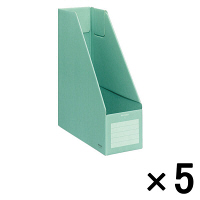 コクヨ ファイルボックスS A4タテ 背幅102mm 緑 フ-E450G 1袋(5冊入)