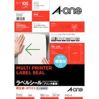 エーワン ラベルシール[プリンタ兼用] 再生紙ノーカット 31332 1袋(100シート入)×3袋