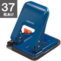 コクヨ 2穴パンチ ラクアケ 37枚あけ ブルー PN-G37B 3個