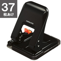 コクヨ 2穴パンチ ラクアケ 37枚あけ ブラック PN-G37D 3個