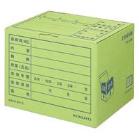 コクヨ 文書保存箱(フォルダー用) B4/A4用 グリーン B4A4-BX-G 1袋(10枚入)