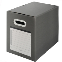 プラス ボックスファイル(サンプルボックス) ダークグレー BF10A4-200 1セット(5個:1個×5)