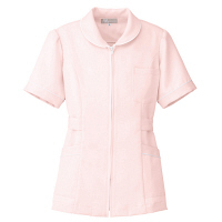 AITOZ(アイトス) ナースジャケット(パイピング) 女性用 半袖 ピンク M 861338-060