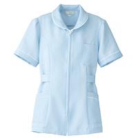AITOZ(アイトス) ナースジャケット(パイピング) 女性用 半袖 サックスブルー S 861338-007