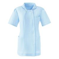 AITOZ(アイトス) スクエアネックチュニック(ナースジャケット) 医療白衣 半袖 サックスブルー S 861365-007