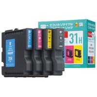 エコリカ リサイクルインク ECI-RC31H 4PBOX 1パック(大容量4色入)(アスクル限定)