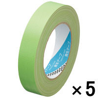 寺岡製作所 養生用布テープ 若葉 幅25mm×25m巻 148A 1セット(5巻:1巻×5)