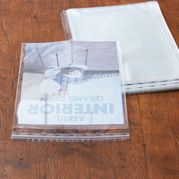 アスクルオリジナル OPP袋(テープ付き) 簡易包装パック A4 テープ付き 透明封筒 1セット(5000枚:500枚入×10袋)
