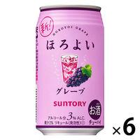 サントリー ほろよい <ぶどうサワー> 350ml×6缶