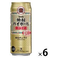 宝 焼酎ハイボール ドライ 500ml 1セット(6缶)