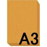 アスクル カラーペーパー A3 オレンジ 1セット(500枚×2冊入)