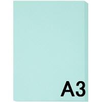 アスクル カラーペーパー A3 ライトブルー 1セット(500枚×2冊入)